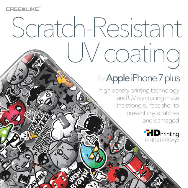 Apple iPhone 7 Plus case Graffiti 2709 with UV-Coating Scratch-Resistant Case | CASEiLIKE.com