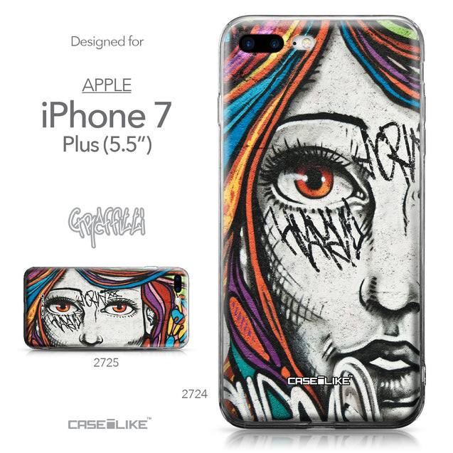 Apple iPhone 7 Plus case Graffiti Girl 2724 Collection | CASEiLIKE.com