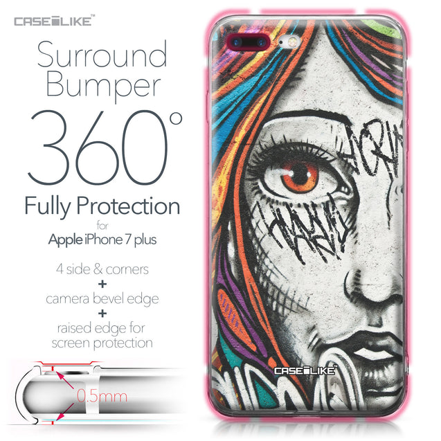 Apple iPhone 7 Plus case Graffiti Girl 2724 Bumper Case Protection | CASEiLIKE.com