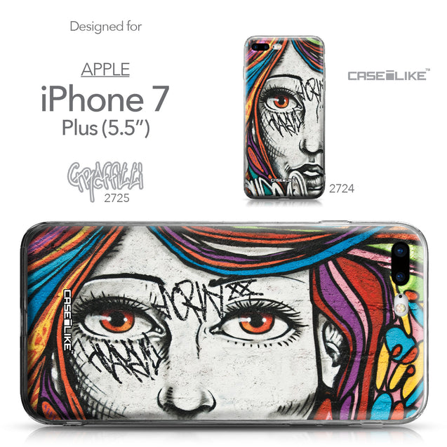 Apple iPhone 7 Plus case Graffiti Girl 2725 Collection | CASEiLIKE.com
