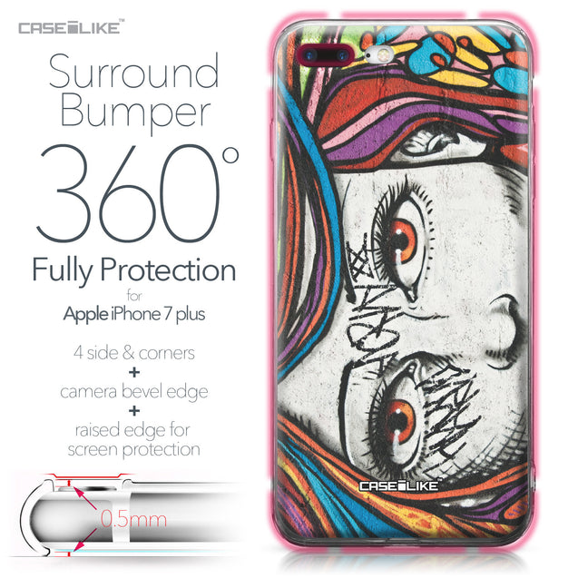 Apple iPhone 7 Plus case Graffiti Girl 2725 Bumper Case Protection | CASEiLIKE.com