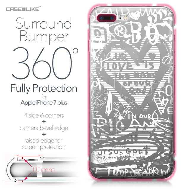 Apple iPhone 7 Plus case Graffiti 2730 Bumper Case Protection | CASEiLIKE.com