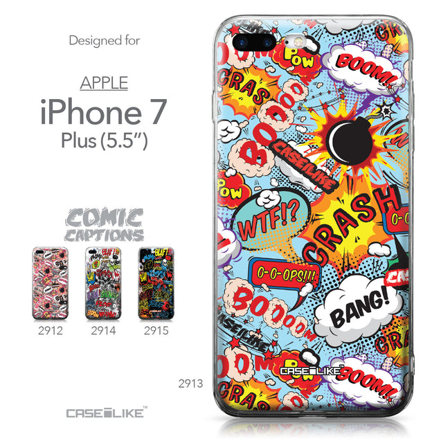 Apple iPhone 7 Plus case Comic Captions Blue 2913 Collection | CASEiLIKE.com