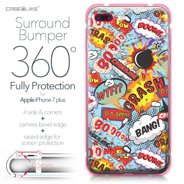 Apple iPhone 7 Plus case Comic Captions Blue 2913 Bumper Case Protection | CASEiLIKE.com