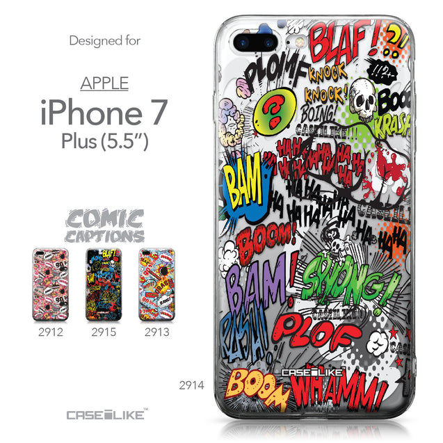 Apple iPhone 7 Plus case Comic Captions 2914 Collection | CASEiLIKE.com