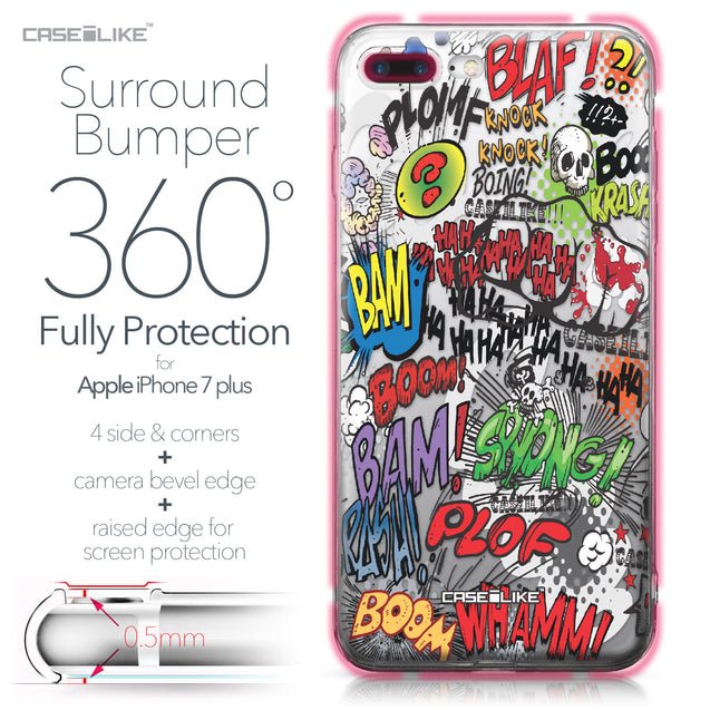 Apple iPhone 7 Plus case Comic Captions 2914 Bumper Case Protection | CASEiLIKE.com