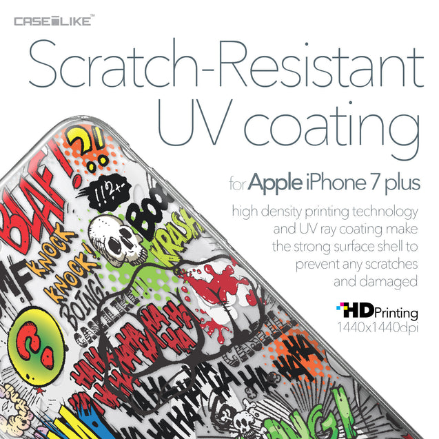 Apple iPhone 7 Plus case Comic Captions 2914 with UV-Coating Scratch-Resistant Case | CASEiLIKE.com