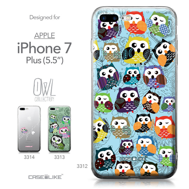 Apple iPhone 7 Plus case Owl Graphic Design 3312 Collection | CASEiLIKE.com