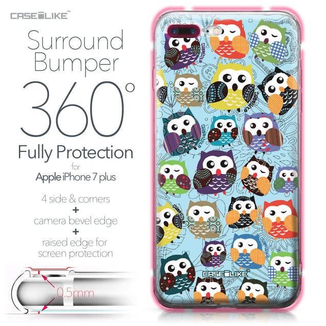 Apple iPhone 7 Plus case Owl Graphic Design 3312 Bumper Case Protection | CASEiLIKE.com