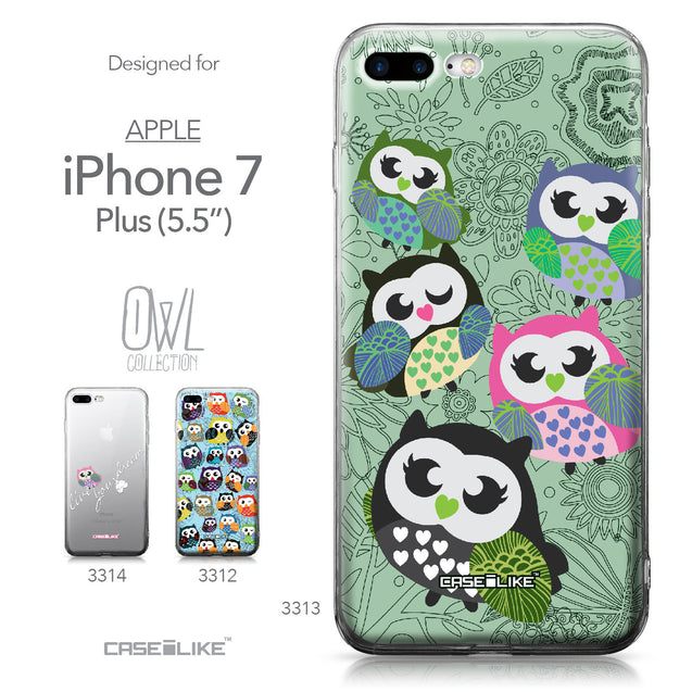 Apple iPhone 7 Plus case Owl Graphic Design 3313 Collection | CASEiLIKE.com