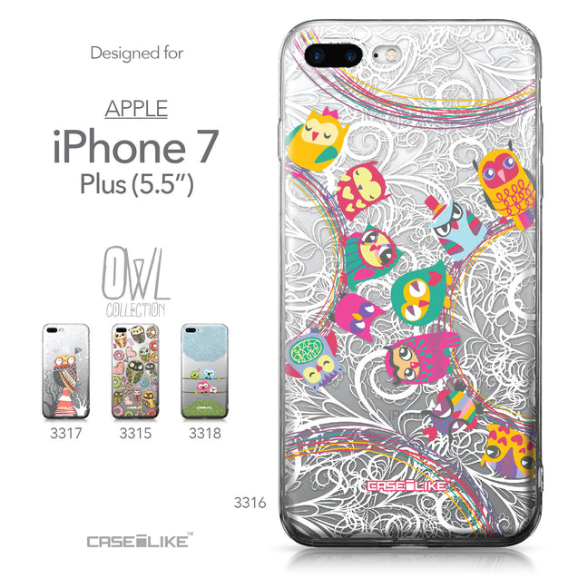 Apple iPhone 7 Plus case Owl Graphic Design 3316 Collection | CASEiLIKE.com