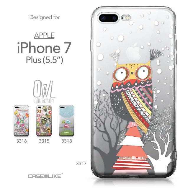 Apple iPhone 7 Plus case Owl Graphic Design 3317 Collection | CASEiLIKE.com