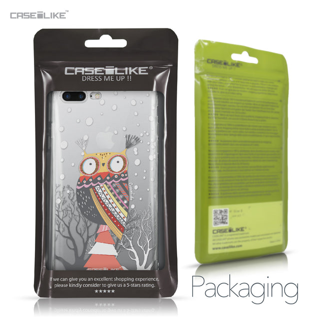 Apple iPhone 7 Plus case Owl Graphic Design 3317 Retail Packaging | CASEiLIKE.com