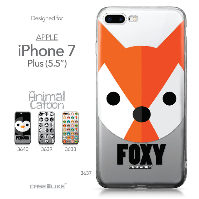Apple iPhone 7 Plus case Animal Cartoon 3637 Collection | CASEiLIKE.com
