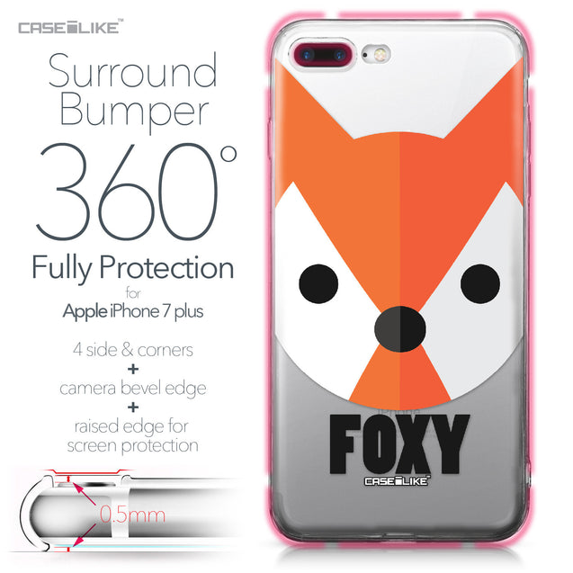 Apple iPhone 7 Plus case Animal Cartoon 3637 Bumper Case Protection | CASEiLIKE.com
