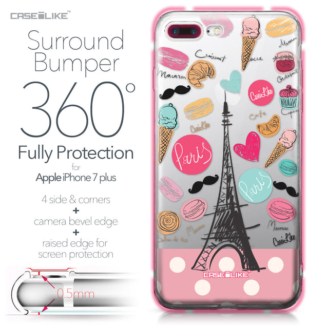 Apple iPhone 7 Plus case Paris Holiday 3904 Bumper Case Protection | CASEiLIKE.com