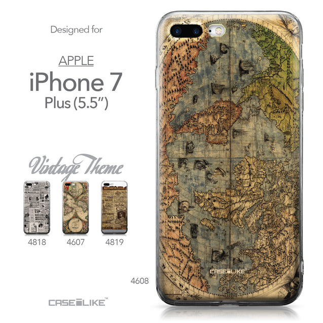 Apple iPhone 7 Plus case World Map Vintage 4608 Collection | CASEiLIKE.com