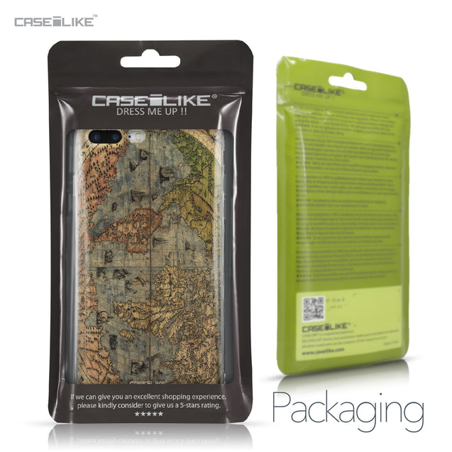 Apple iPhone 7 Plus case World Map Vintage 4608 Retail Packaging | CASEiLIKE.com