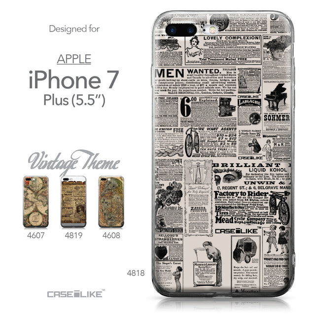 Apple iPhone 7 Plus case Vintage Newspaper Advertising 4818 Collection | CASEiLIKE.com
