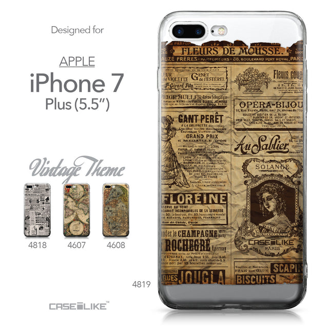 Apple iPhone 7 Plus case Vintage Newspaper Advertising 4819 Collection | CASEiLIKE.com