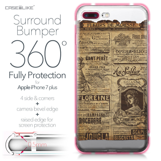 Apple iPhone 7 Plus case Vintage Newspaper Advertising 4819 Bumper Case Protection | CASEiLIKE.com