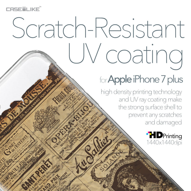 Apple iPhone 7 Plus case Vintage Newspaper Advertising 4819 with UV-Coating Scratch-Resistant Case | CASEiLIKE.com