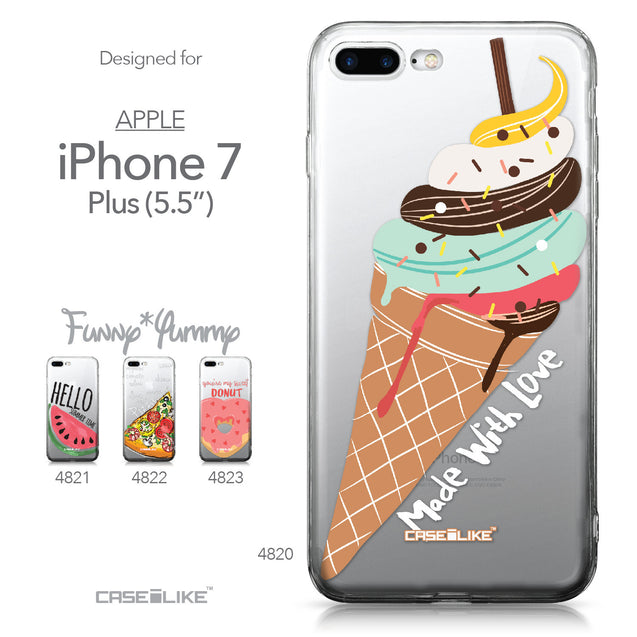 Apple iPhone 7 Plus case Ice Cream 4820 Collection | CASEiLIKE.com