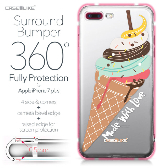 Apple iPhone 7 Plus case Ice Cream 4820 Bumper Case Protection | CASEiLIKE.com