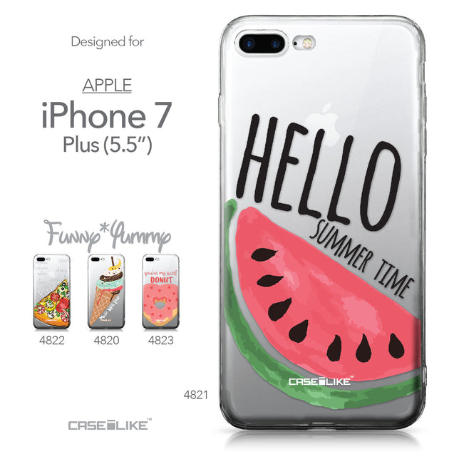 Apple iPhone 7 Plus case Water Melon 4821 Collection | CASEiLIKE.com