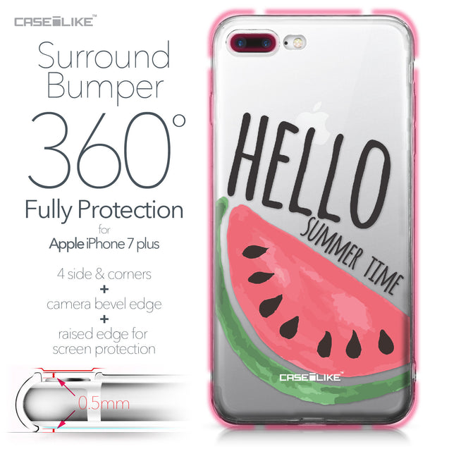 Apple iPhone 7 Plus case Water Melon 4821 Bumper Case Protection | CASEiLIKE.com