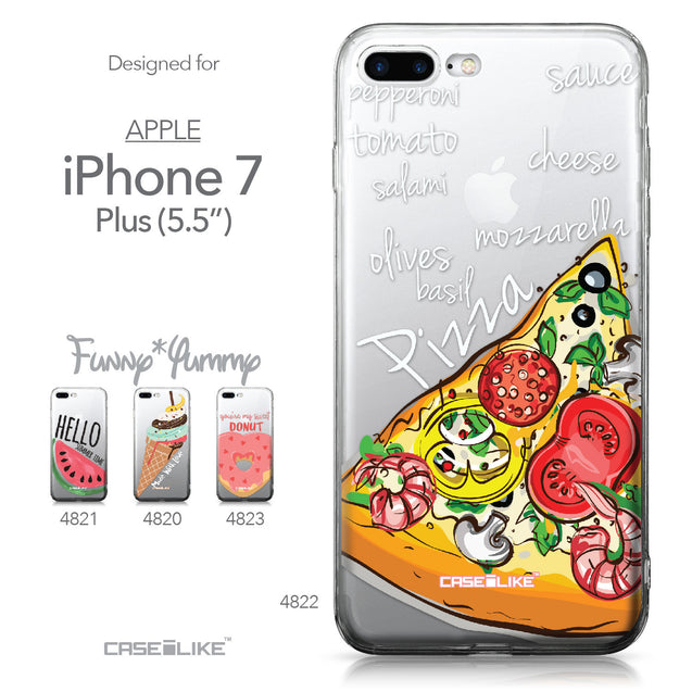 Apple iPhone 7 Plus case Pizza 4822 Collection | CASEiLIKE.com