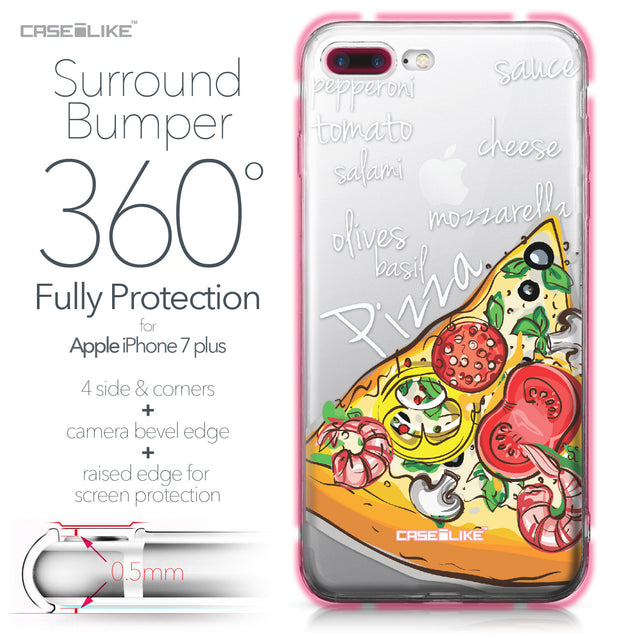 Apple iPhone 7 Plus case Pizza 4822 Bumper Case Protection | CASEiLIKE.com
