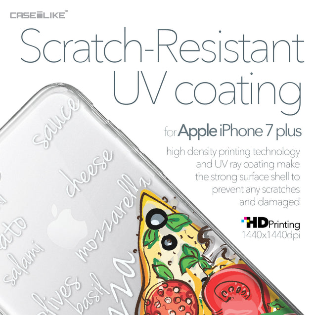 Apple iPhone 7 Plus case Pizza 4822 with UV-Coating Scratch-Resistant Case | CASEiLIKE.com