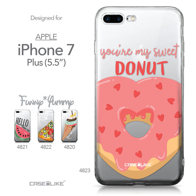 Apple iPhone 7 Plus case Dounuts 4823 Collection | CASEiLIKE.com