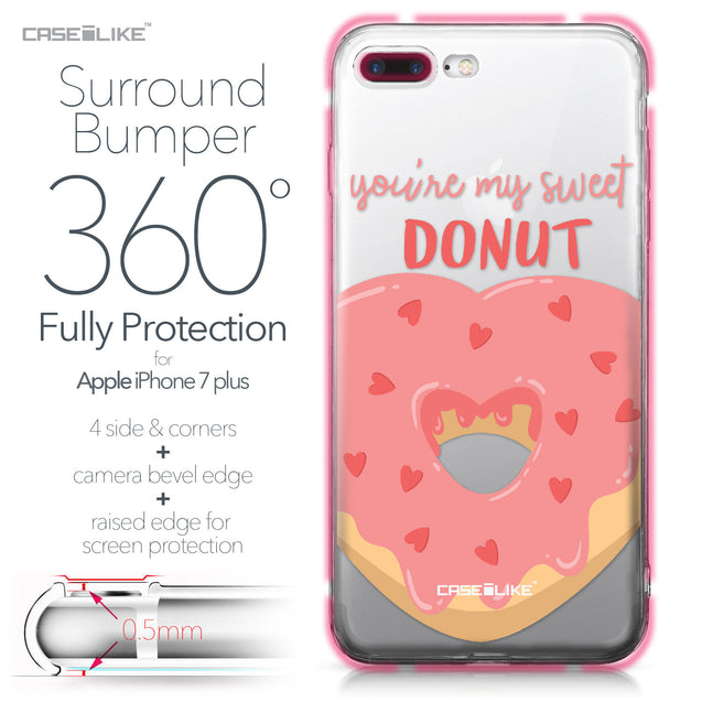 Apple iPhone 7 Plus case Dounuts 4823 Bumper Case Protection | CASEiLIKE.com