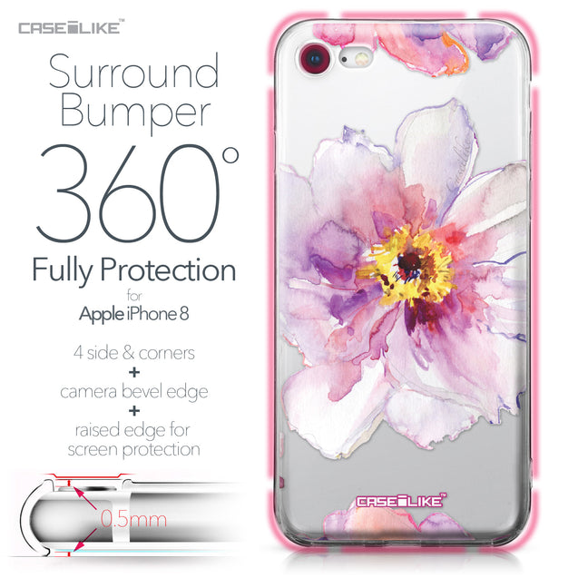 Apple iPhone 8 case Watercolor Floral 2231 Bumper Case Protection | CASEiLIKE.com