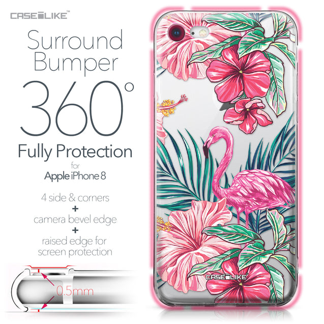 Apple iPhone 8 case Tropical Flamingo 2239 Bumper Case Protection | CASEiLIKE.com