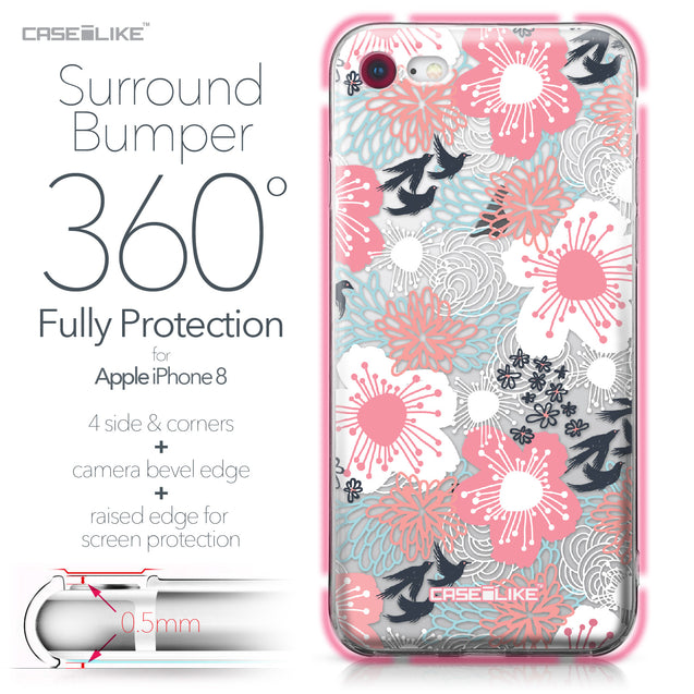 Apple iPhone 8 case Japanese Floral 2255 Bumper Case Protection | CASEiLIKE.com
