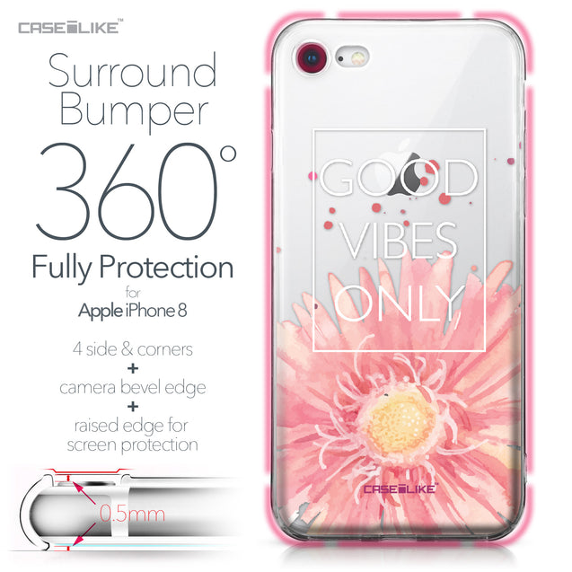 Apple iPhone 8 case Gerbera 2258 Bumper Case Protection | CASEiLIKE.com