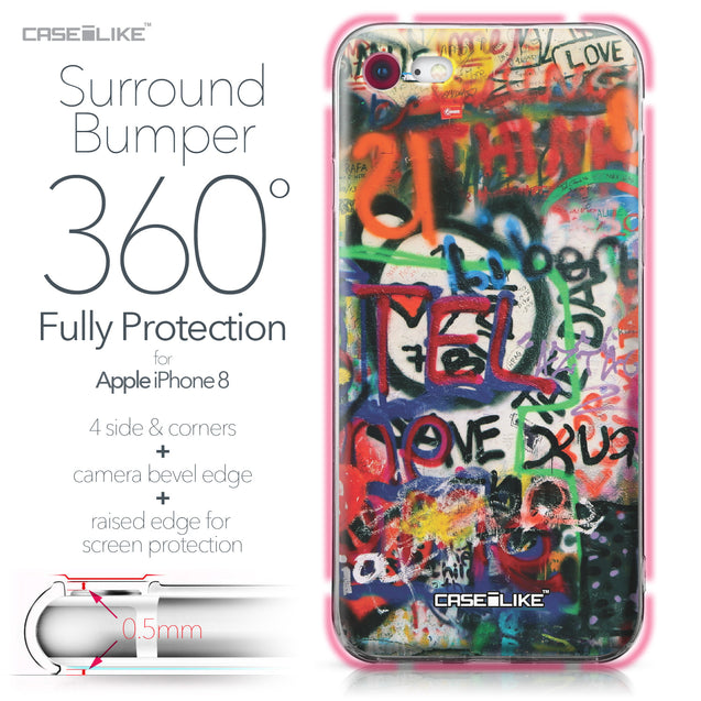 Apple iPhone 8 case Graffiti 2721 Bumper Case Protection | CASEiLIKE.com