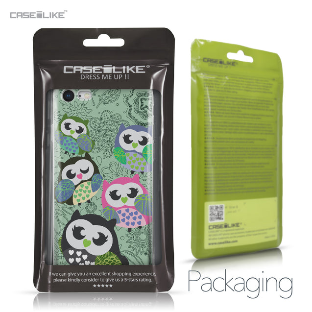 Apple iPhone 8 case Owl Graphic Design 3313 Retail Packaging | CASEiLIKE.com
