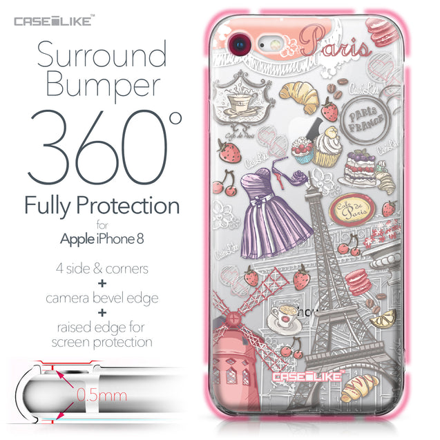 Apple iPhone 8 case Paris Holiday 3907 Bumper Case Protection | CASEiLIKE.com