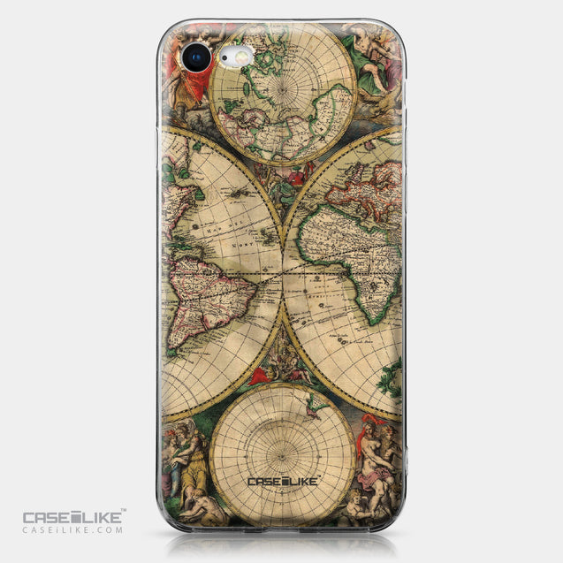 Apple iPhone 8 case World Map Vintage 4607 | CASEiLIKE.com