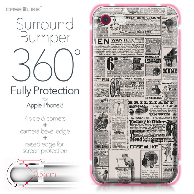 Apple iPhone 8 case Vintage Newspaper Advertising 4818 Bumper Case Protection | CASEiLIKE.com