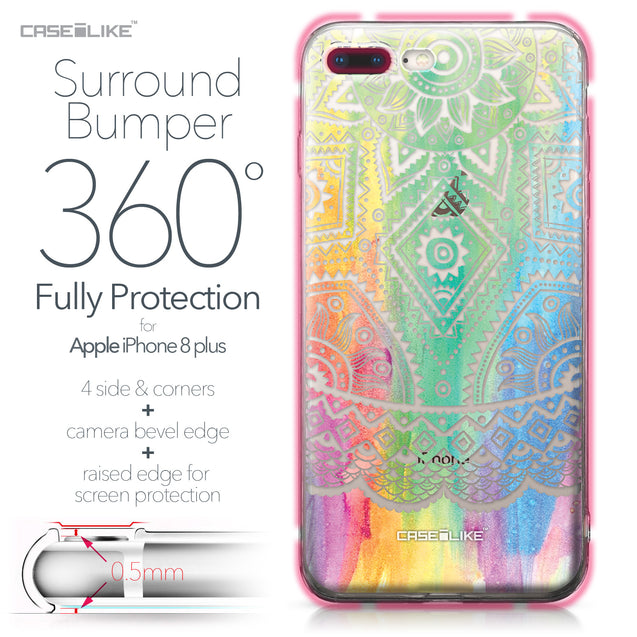 Apple iPhone 8 Plus case Indian Line Art 2064 Bumper Case Protection | CASEiLIKE.com