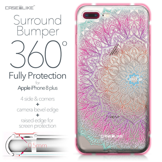 Apple iPhone 8 Plus case Mandala Art 2090 Bumper Case Protection | CASEiLIKE.com
