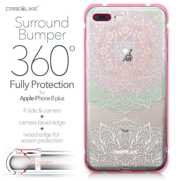 Apple iPhone 8 Plus case Mandala Art 2092 Bumper Case Protection | CASEiLIKE.com