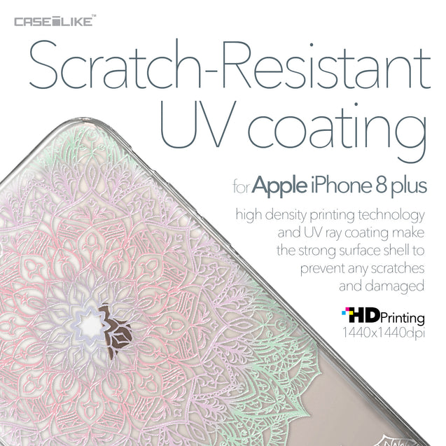 Apple iPhone 8 Plus case Mandala Art 2092 with UV-Coating Scratch-Resistant Case | CASEiLIKE.com