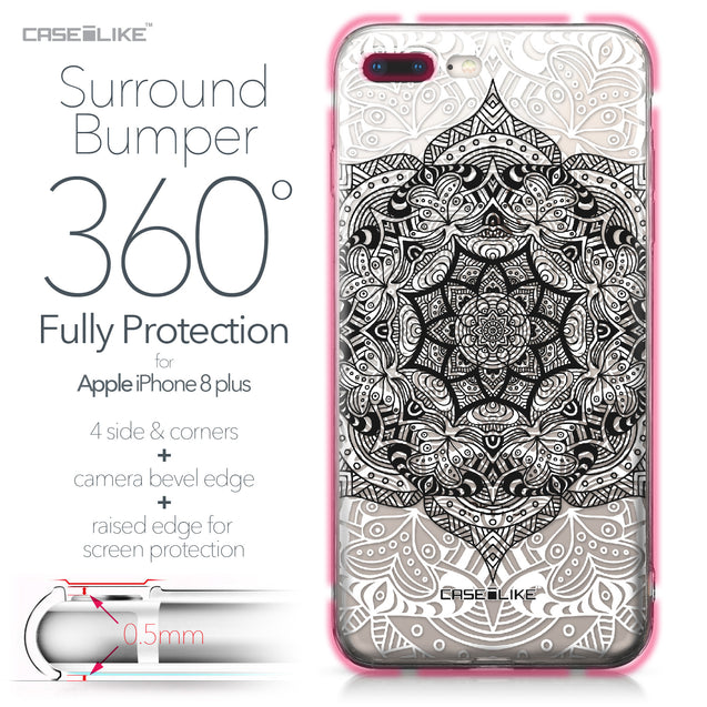 Apple iPhone 8 Plus case Mandala Art 2097 Bumper Case Protection | CASEiLIKE.com