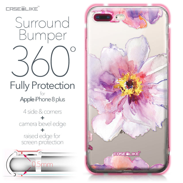 Apple iPhone 8 Plus case Watercolor Floral 2231 Bumper Case Protection | CASEiLIKE.com